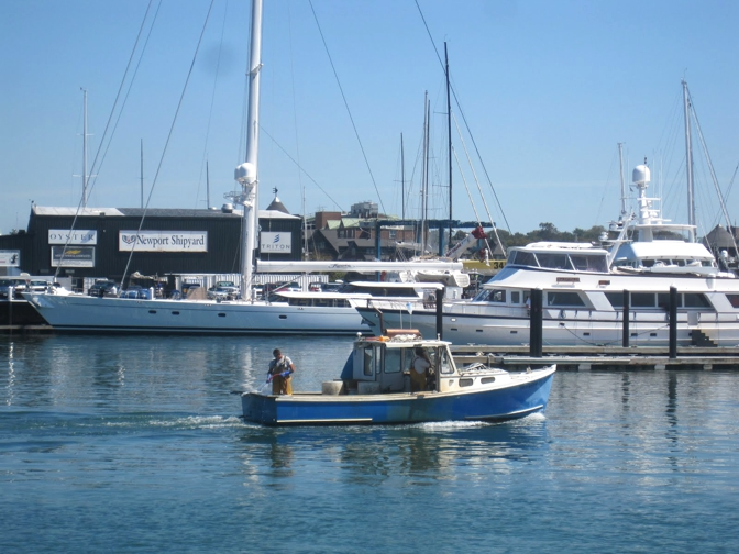 Photos of waterfront harbor and around town newport for Newport harbor fishing